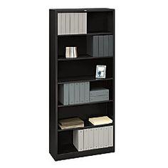 HON® Brigade® Steel Bookcase, 6 Shelves (4 Adjustable), 81 1