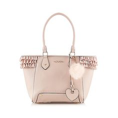 Floozie by Frost French Light pink frilled tote bag | Debenhams