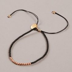 Buy the Nikki B Basic Black Bracelet - Rose Gold at Goodhood. Online destination for women's fashion representing the best in luxury street style. Black Bracelets, Rose Gold, Jewels, Ideas, Bracelets, Jewerly, Black Braces, Gemstones, Thoughts