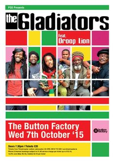 The Gladiators & Droop Lion - Looks Is Deceiving by Brice Ti'John Button Factory, Back On Track, Reggae, Lion, Gladiators, Youtube, Movie Posters, Roots, Dublin