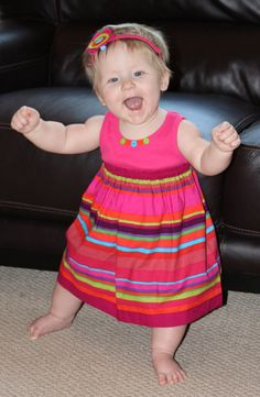 onesie T-shirt dress baby toddler girls easy sew pdf pattern beginning sewer
