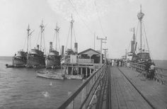 1920's fishing boats at the Queen Anne Pier in Lewes, Delaware.  From the from Purnell Collection at the Delaware Public Archives.