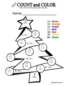 Your student/child will enjoy these Christmas tree color sheets adding ...