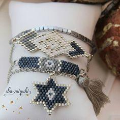 Happy days⭐💙 Günlerden gri kombin💚🎁 Bilgi için dm den ulaşabilirsi… Happy days⭐💙 Gray combination of days⭐💙 For information please contact dm💭📱 __ # miyuki Umeda # design the to is to to # to to # Cute Jewelry, Jewelry Sets, Jewelry Accessories, Jewelry Making, Bracelet Wrap, Bead Loom Bracelets, Fashion Bracelets, Fashion Jewelry, Handmade Jewelry Designs