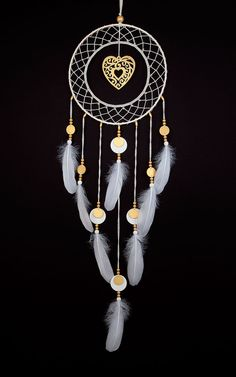 Dream Catcher ganchillo tapete atrapasueños Golden Heart