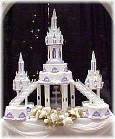 quincianera castle cake