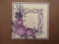 Card. Spellbinders adorning squares