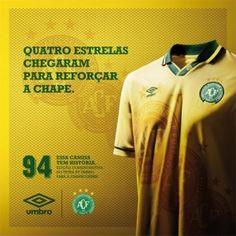 Camisa 3 da Chapecoense homenageia Brasil de 1994 - http://www.colecaodecamisas.com/camisa-3-chapecoense-homenageia-brasil-1994/ #colecaodecamisas #Copadomundo1994, #Umbro