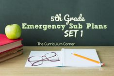 These 5th grade emergency sub plans are written to be a ready to go set of plans when that unexpected absence pops up. Sub Plans Template, Lesson Plan Templates, Music Sub Plans, Teacher Forms, Reading Incentives, Emergency Sub Plans, Making Words, Substitute Teacher, Beginning Of School