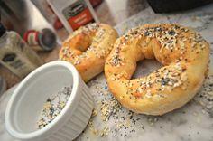 Printing: Make These Crazy Simple 2 Ingredient Air Fryer Bagels Air Fryer Oven Recipes, Air Fry Recipes, Cooking Recipes, Ww Recipes, Bread Recipes, Healthy Recipes, Air Fryer Doughnut Recipe, Air Fried Food, Air Fryer Healthy
