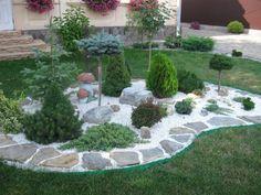 Rock Garden Design, Garden Landscape Design, Garden Deco, Front Yard Landscaping, Garden Cottage, Shade Garden, Lawn And Garden, Outdoor Gardens, Gardens