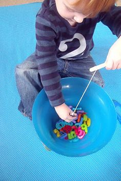 make, do & friend: Learning Numbers - Magnet Fishing
