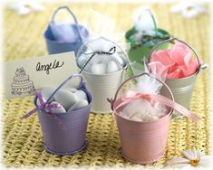Favors in Buckets - Party Wedding Shower