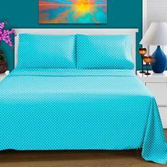Polka Dot Twin XL Sheet Set - Cotton Rich 600 Thread Count