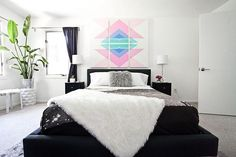 We've only had our geometric headboard panels http://www.refinery29.com/a-beautiful-mess/19#slide-1
