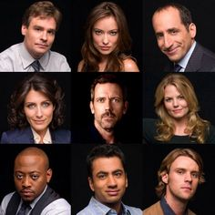 The Cast of House, Season Robert Sean Leonard, Olivia Wilde, Peter Jacobson… Gregory House, House Md, Hugh Laurie, Peter Jacobson, Doctor House, Tv Show House, Serie Doctor, Dr H, Omar Epps