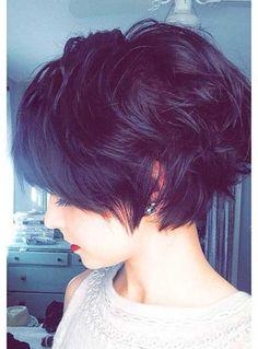 Short Hairstyle Dark Hair