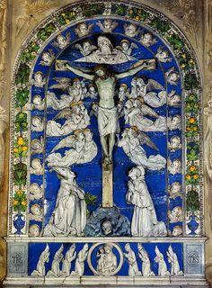 Andrea della Robbia, Trinità fra i SS. Donato e Bernardo, 1485-1486. Arezzo, Duomo