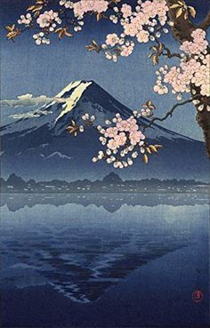 """Lake Yamanaka in Winter & Lake Kawaguchi by Tsuchiya Koitsu 土屋 光逸 (1870 – 1870)."""