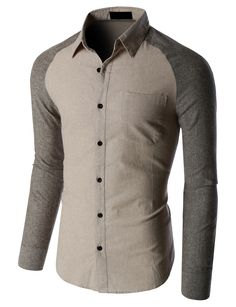 LE3NO Mens Trendy Slim Fit Long Sleeve Button Down Flannel Shirt