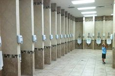 Buc-ee's is known for pristine bathrooms. People travel far and wide for these memorable roadside restrooms. Gas Pumps, Bus Station, Radiators, How To Memorize Things, Texas, Home Appliances, Bathrooms, God, Google Search