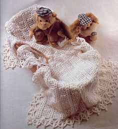 Beige Baby Blanket with Beautiful Border free crochet graph pattern