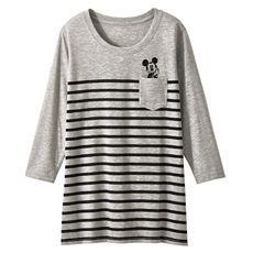 7分袖プリントTシャツ(ディズニー)
