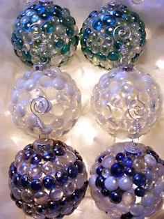 Interiorz Dezigned: Project: How to Create Christmas Sea Glass Ornaments