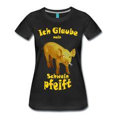 Leicht tailliertes T-Shirt für Frauen, 100 % Baumwolle, Marke: Spreadshirt