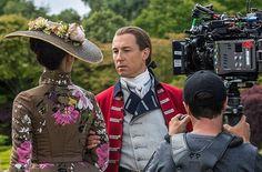 Face to face, camera to camera. #BehindTheScenes #Outlander