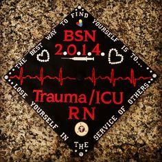 Maybe bsn 2015 and then nurse jessica? My decorated nursing graduation cap Nursing Pins, Icu Nursing, Nursing Goals, Nursing School Graduation, Graduation Ideas, Graduation 2016, Graduation Photos, Trauma Nurse, Nurse Party