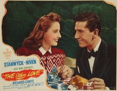 Richard Conte, Barbara Stanwyck, The Other Love, 1947 Richard Conte, Film World, Classic Movie Posters, Barbara Stanwyck, Silver Age, Movie Quotes, American Actress, Cinema