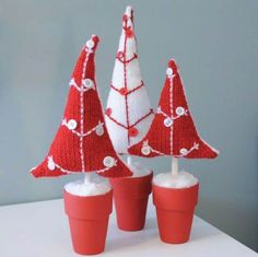 Decorative knitted craft ideas for Christmas  (16)