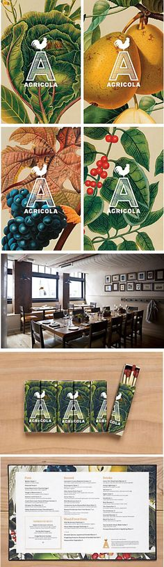 Agricola Restaurant Identity - Designed by Mucca Design