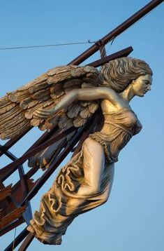 Picture of Wooden Figurehead on the broken ship stock photo, images and stock photography. Pirate Art, Pirate Ships, Ship Figurehead, Bateau Pirate, Old Sailing Ships, Wooden Ship, Mermaid Art, Mermaid Statue, Ship Art