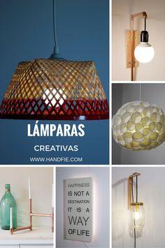 Ideas de lámparas creativas diy para sorprender en cualquier rincón.