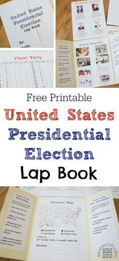 Presidential Election Lap Book - Free, printable lapbook template for learning about the United States presidential election process and candidates via /researchparent/ Government Lessons, Teaching Government, History Education, Teaching History, History Class, Kids Education, 5th Grade Social Studies, Teaching Social Studies, Wahlen Usa