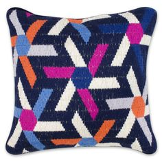 bargello asterisk pillow // jonathan adler