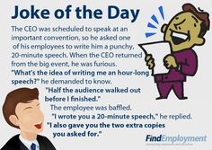 CEO's speech #joke