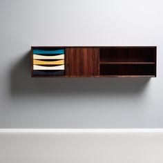 Arne Vodder; Palisander Wall-Mounted Cabinet for Sibast, 1960s.