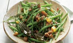 Some sage recipes (including green beans with pancetta and sage)
