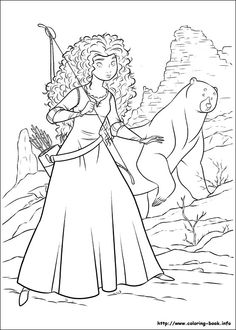 Brave Coloring Page for the movie