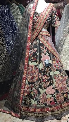 Olive bridal lehenga with multi velvet patch work & antique Tilla work! Fabric - Velvet Size - 38 Ready to Ship Lehenga Color Combinations, Lehenga Pattern, Bridesmaid Saree, Green Lehenga, Designer Bridal Lehenga, Embroidery Suits, Indian Suits, Indian Bridal, Bridal Dresses