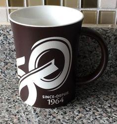 Tim Hortons Limited Edition Mug Anniversary Coffee Mug Cup 2014 Dark Brown Coffee Shop, Coffee Mugs, Tim Hortons, Mug Cup, 50th Anniversary, Dark Brown, Cups, Canada, Store