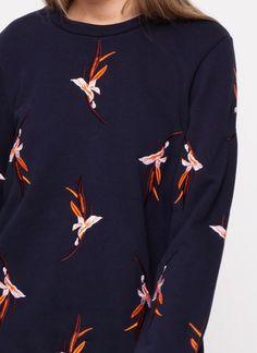 Just Female saza sweatshirt blue
