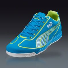 I could use some indoor shoes PUMA Women's Speed Star - Dresden Blue/Lime Punch/White Indoor Soccer Shoes || SOCCER.COM