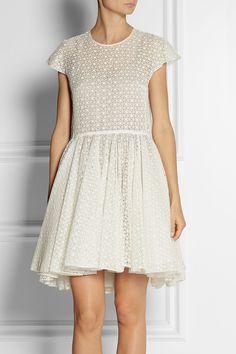 Giambattista Valli|Broderie anglaise cotton and silk-blend dress|NET-A-PORTER.COM