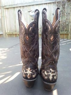 Stetson Women's Exotic Caiman Western Boots Size 8.5B