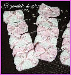 Il gomitolo di cotone: Bomboniere nascita in rosa.