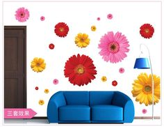 flower wall stickers ᗕ living room home decorations zooyoo6015 adesivo de parede diy ⊱ pvc decals colorful mural arts wedding giftsflower wall stickers living room home decorations zooyoo6015 adesivo de parede diy pvc decals colorful mural arts wedding gifts